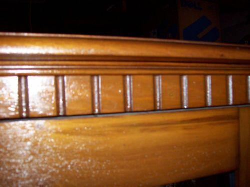 Antique Wood China Cabinet Bookcase Book Case Cabinet High Boy Fleur de Lis | eBay