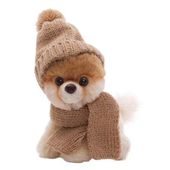 "Amazon.com: Gund 5"" Itty Bitty Boo in Knit Scarf and Cap Plush: Toys & Games"
