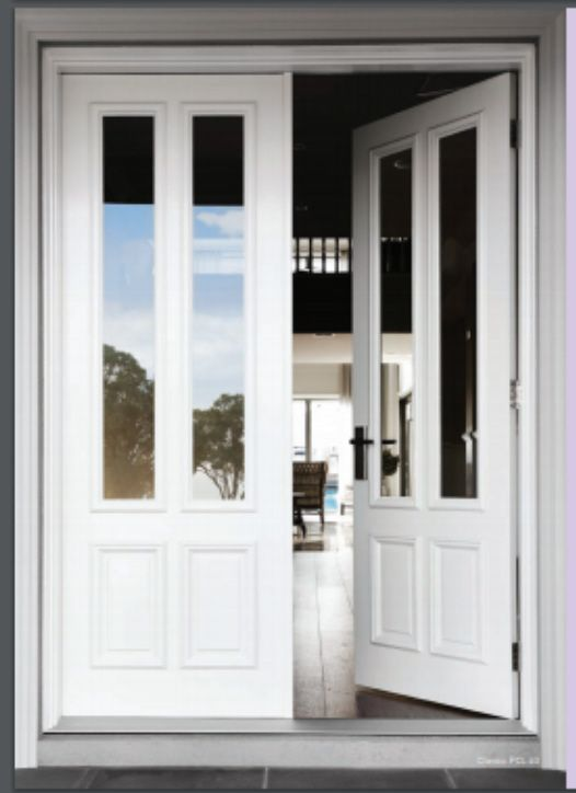Front Entry Doors Corinthian Classic Pcl 4g With Clear Glazing Hamptons House Exterior Front Entry Doors Front Door