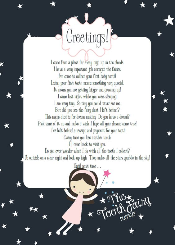 Tooth fairy letter fun for kids pinterest tooth for Fairy letters