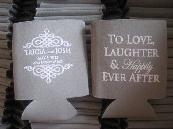 """""""To Love, Laughter and Happily Ever After!"""" Favorite Coozie saying so far!"""