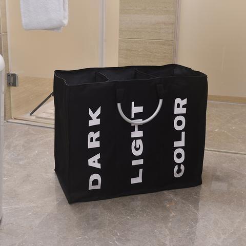 Portable Folding Dorm Room Labeled Sorting Light Dark Color Laundry Hamper Basket Laundry Hamper Hamper Storage Laundry Basket