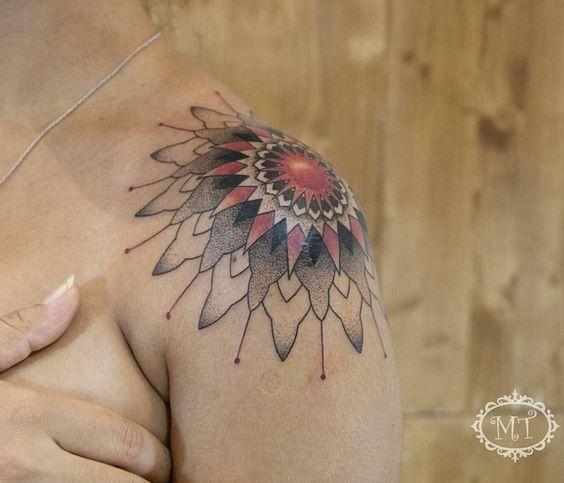 New custom design mandala tattoo.Kişiye özel olarak tasarlandı. Tattoo by Melek Taştekin #tattoo #tattoos #tattooed #tattooist #tattooing #tatu #tats #mandala #mandalatattoo #shouldertattoo #ink #inked #melektastekin #colortattoo #tattoomag #tattooer #tattooart #tattooartist #dovme #dovmeankara #instatattoo #womantattoo #flowertattoo #instagood