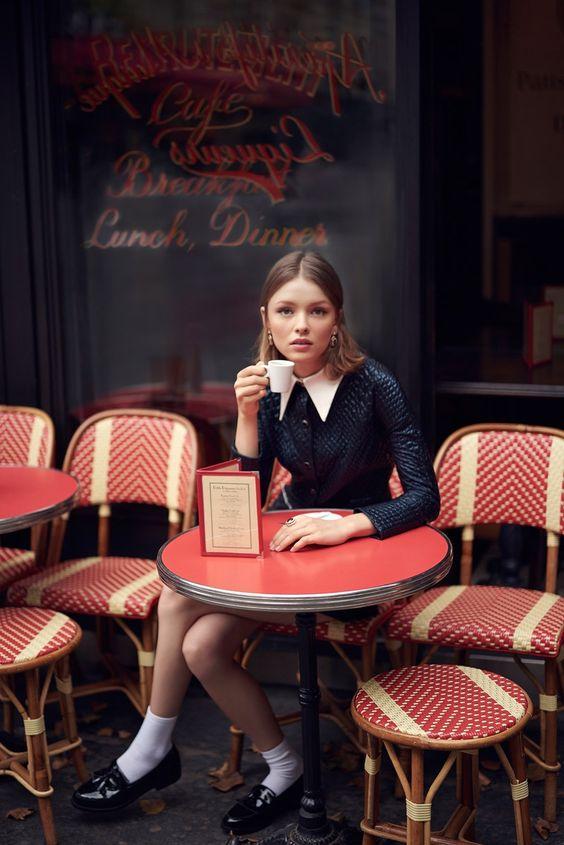 #Retrostyle #Magazine #60s Vladimir Marti captures the model in Parisian inspired style