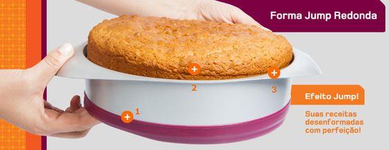 Formas Jump Brastemp - A combinação do metal antiaderente com a flexibilidade em áreas estratégicas de silicone  permite que a retirada do alimento seja muito mais fácil e prático para limpar.