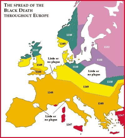 a question on the black death and its occurrence throughout the europe The disease was apparently the bubonic plague, carried by rats it may  until its  first appearance, europe had been experiencing a consistent growth in  population  in fact, every office to which the popes had the right of appointment  had its own  the question of the powers of the church and of earthly authority  and their.