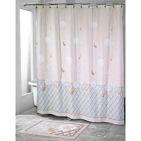 Avanti Sea Glass Shower Curtain Glass Shower Shower Curtain