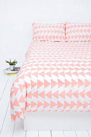 Housse de couette et taies d 39 oreiller p che motif for Housse couette triangle
