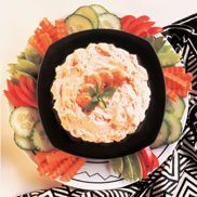 Unexpected Company Shrimp Dip --- Surprise! You've got guests! Charm your unexpected friends with an appetizer that makes an impression. Toss pre-cooked frozen shrimp in this speedy dip, and you're ready to serve in minutes. A savvy host always has a plan.