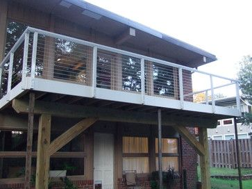 deck white railing cable - Google Search