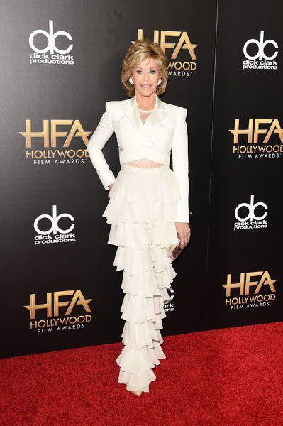 Jane Fonda in Balmain #HollywoodFilmAwards 2015
