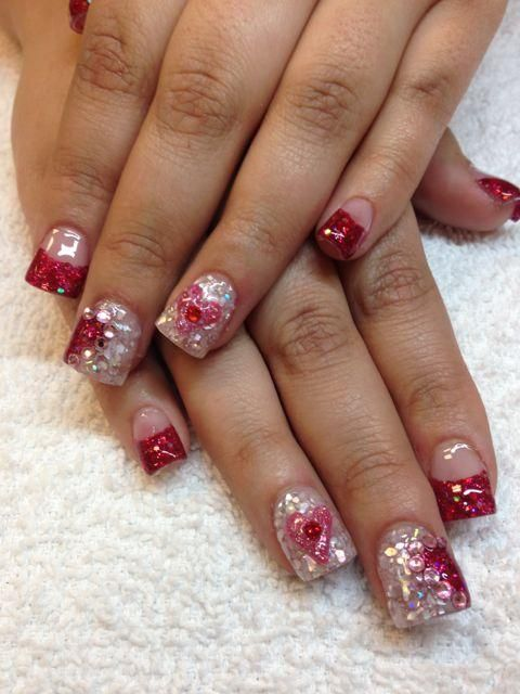 Valentine S Nails Nail Designs Valentines Valentines Nails Valentine S Day Nails