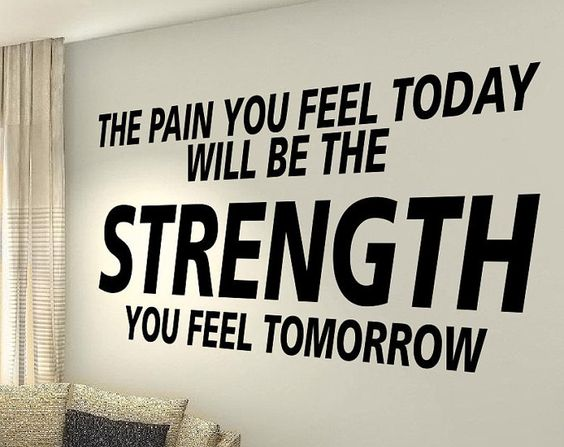 XXL The Pain exercise Workout Motivational Fitness Gym Life Quote wall vinyl decals stickers DIY Art Decor Bedroom Home Happiness