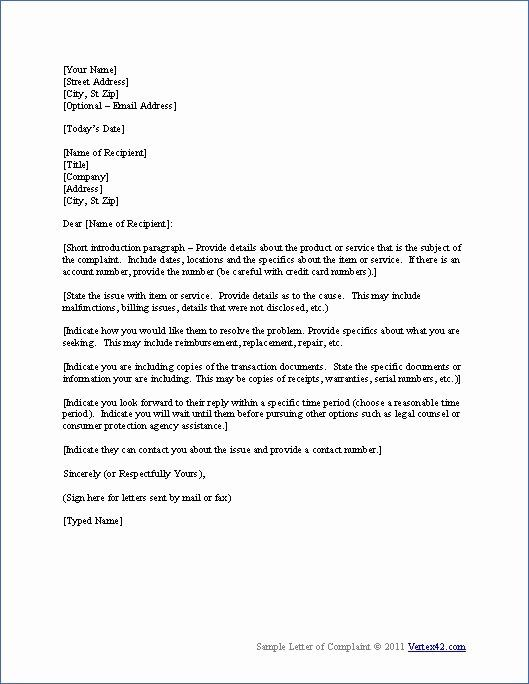 Free Business Letter Template Best Of Download The Plaint Letter Template From Ver Business Letter Template Professional Letter Template Business Letter Format