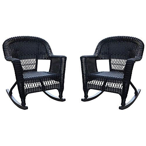 Jeco W00207r D 2 Rocker Wicker Chair Set Of 2 Black Jec Https Www Amazon Com Dp B00os4qz4o Ref Cm Sw R Pi Dp U X Csosbbs1n0x93 Wicker Rocking Chair