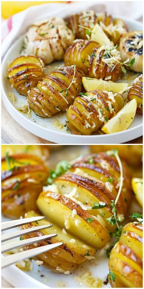 Parmesan Roasted Potatoes - the easiest and BEST roasted potatoes with Parmesan cheese, butter and herbs. SO good you'll want to make it every day | rasamalaysia.com