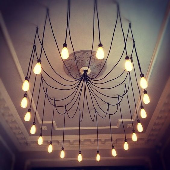 I love the old lightbulbs. Ive been seeing a ton of great ideas for DIY lighting...