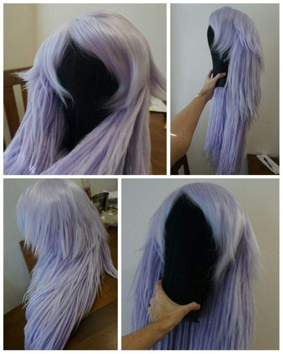 Yarn Wigs. I clicked through and watched the video tutorial, and YES, it is actually yarn! Her wigs are AMAZING. Excellent information here.
