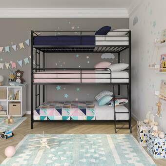 Giusti Twin Loft Bed In 2021 Triple Bed Bunk Beds Triple Bunk Bed