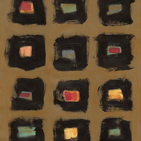 Meridith Brown Abstract Squares - Trowbridge Gallery