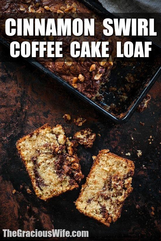 Cinnamon Swirl Coffee Cake Loaf Recipe Cinnamon Swirl Coffee Cake Loaf Uses An Old Fashioned But Diy Food Recipes Diy Easy Recipes Cinnamon Swirl Coffee Cake