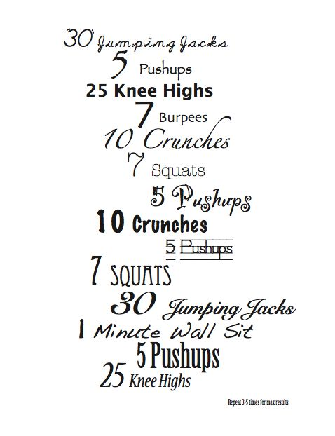 Free Fitness At Home Exercise Chart For Moms | Mom, Charts And