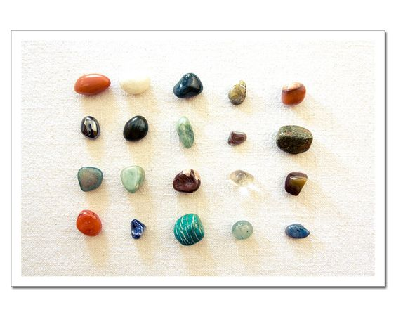 Gemstones Still Life Print, Fine Art Photography Semi-Precious stones 8x12 print. $24.00, via Etsy.