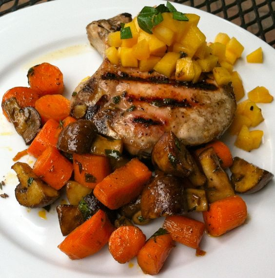 Sage-Rubbed Pork Chops with Pickled Peach Relish | Recipes ...