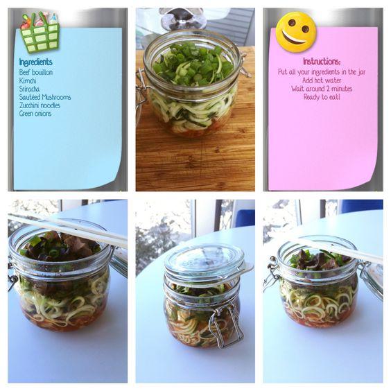 Food in a jar, #spiralizer