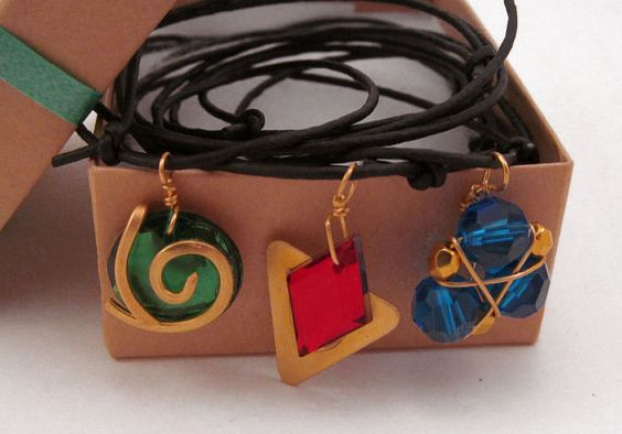 Zelda Ocarina of Time Spiritual Stone Necklace by DweebishDelights