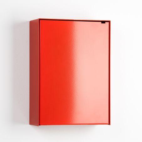 modern orange mailbox