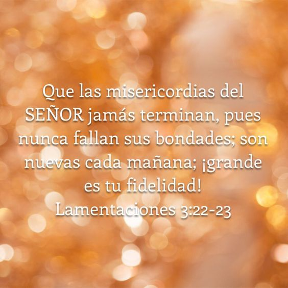 Lamentaciones 3:22-23