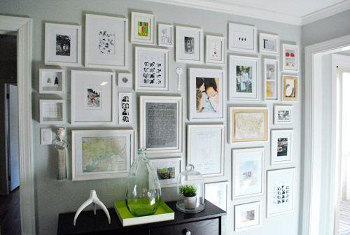 Creating a hallway photo gallery