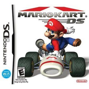 Mario Kart DS --- http://www.amazon.com/Mario-Kart-DS-Nintendo/dp/B000A2R54M/?tag=zaheerbabarco-20