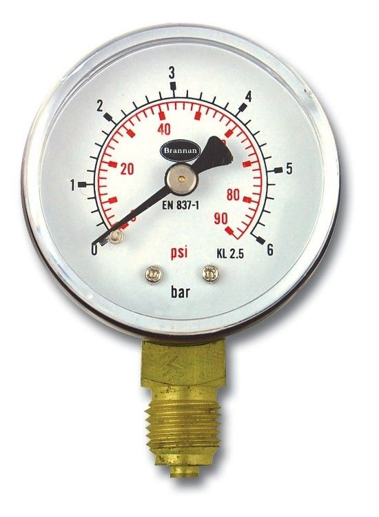 50mm Pressure Gauge Bottom Entry Pressure Gauge Gauges Pressure