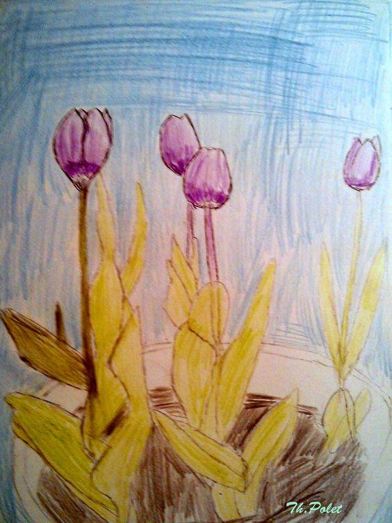 De Paarse tulpen