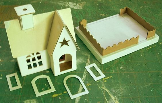 Glitter Houses Diy With Template Downloads Tiny Houses