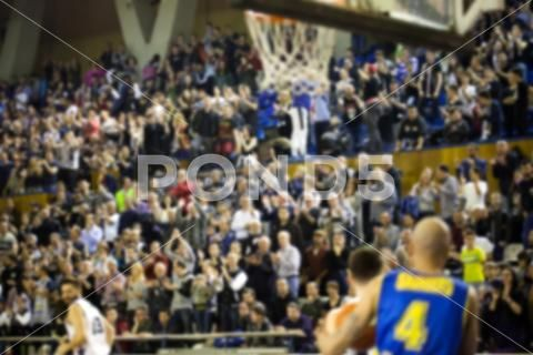 Blurred Background Of Crowd Of People In A Basketball Court Hi Res 73942413 Blurred Background Basketball Court People