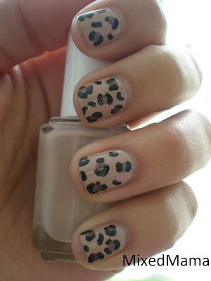 Leopard nails by MixedMama: