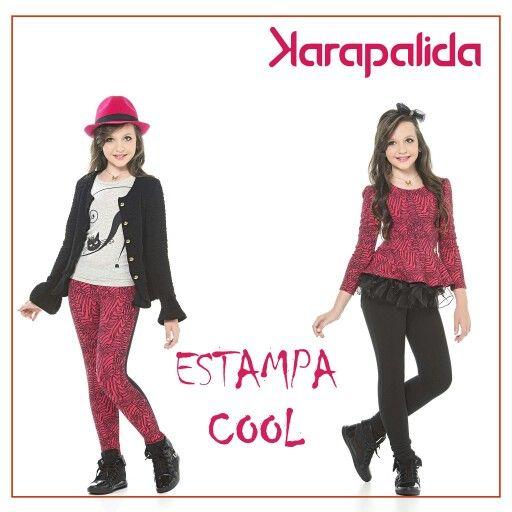 Estampa pop, para um visual moderninho e super estiloso. Amamos as combinações, e vocês?  #karapalida #kids #printpop #fashion #inverno2016