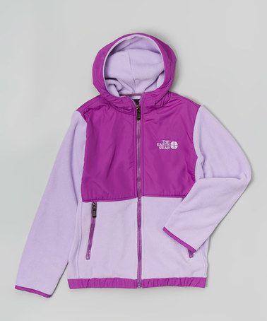 Look what I found on #zulily! Lavender Polar Fleece Zip-Up Hoodie - Girls #zulilyfinds