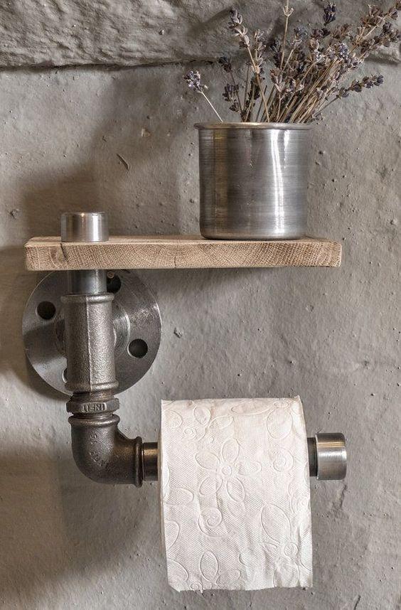 industrial rustic bathroom industrial pipe toilet by eskidenvol2
