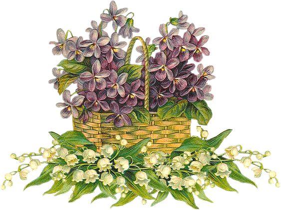 Vintage & Victorian: Cestas de flores Vintage: