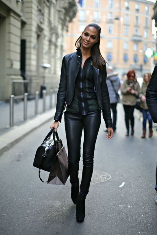 Italian Women Street Fashion 2014 Joan Smalls Streer Style 2014 2013 Fashion Urban Chic