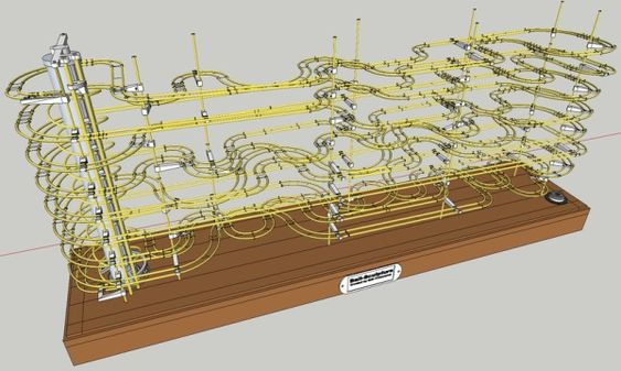 """3D printed rolling ball """"roller coasters"""" by Erik pettersson"""