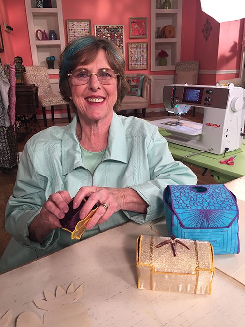 Mary Mccauley Guest On Quilting Arts Tv Series 2200 On Set