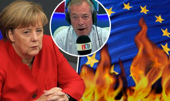 Im going to BURN EU flag Brits fury as she calls for Merkel to stand trial in Hague