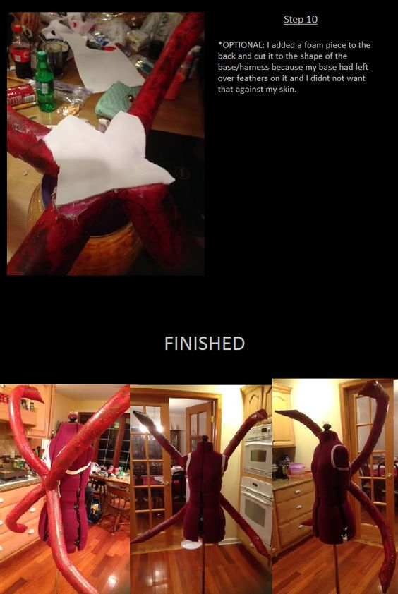"""futagocosplay: """" Kaneki/ Rize Kagune tutorial Hope this helps you~ if you have any questions, just ask~ I kinda rushed this because I felt bad for taking so long to put this up ^___^ """""""
