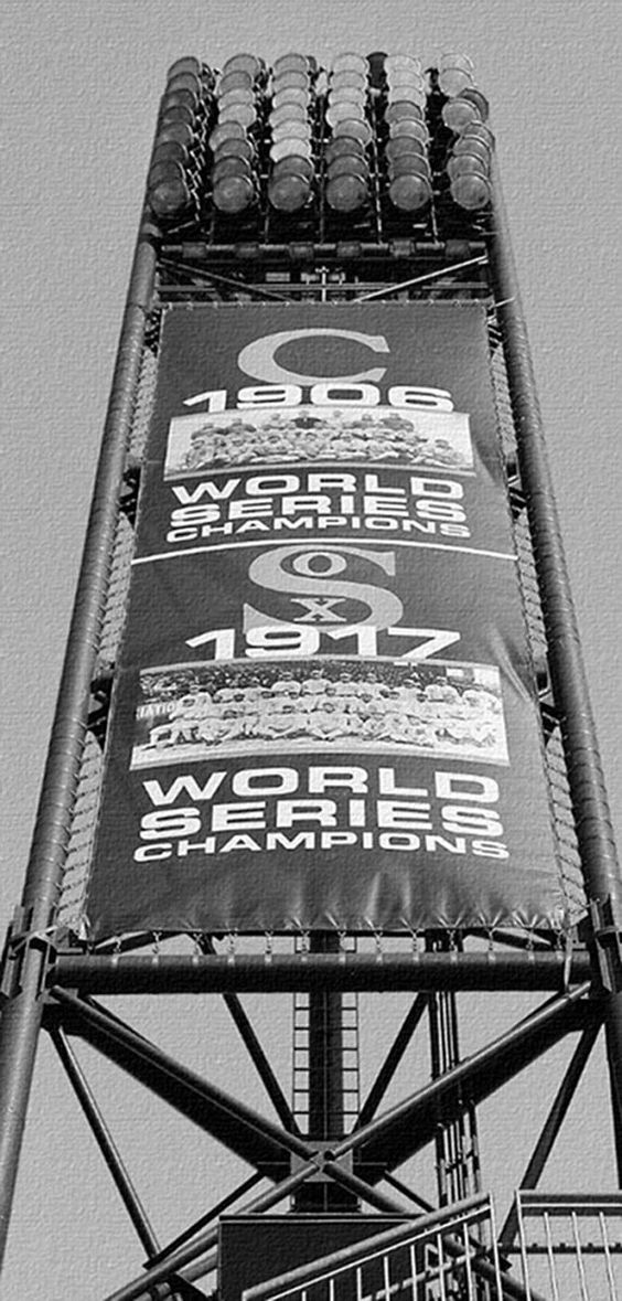 Chicago White Sox Canvas Art / World Series Team Banner at U.S. Cellular Field on Etsy, $85.00