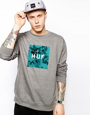 HUF Sweatshirt With Box Floral Logo